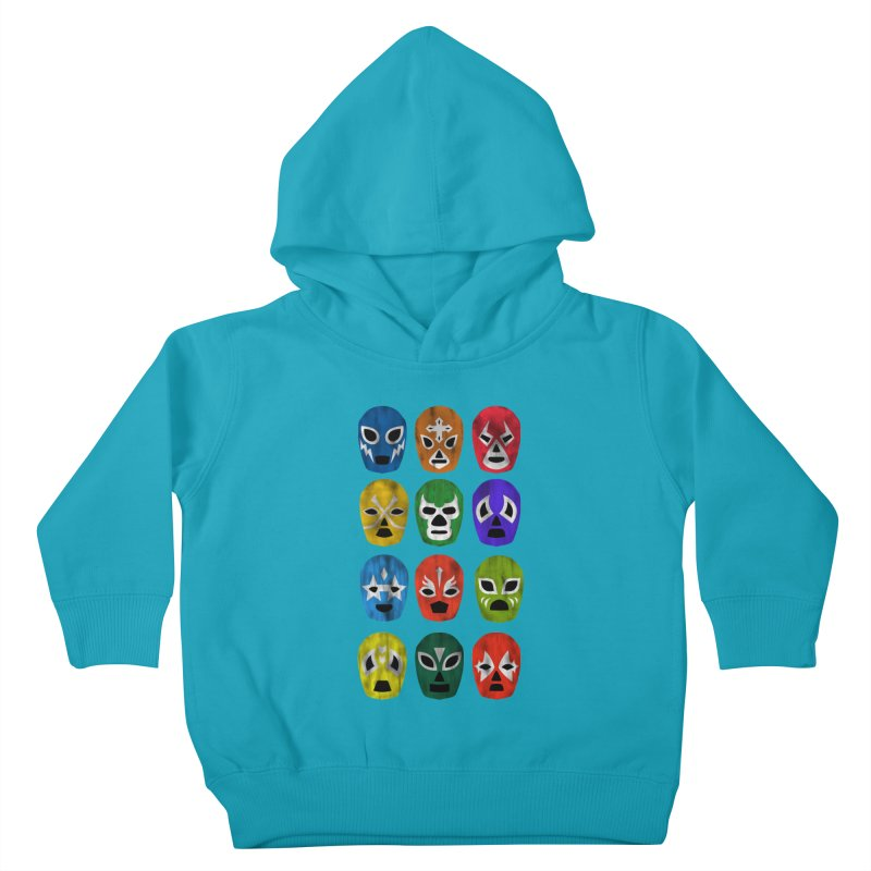 LUCHADORES Kids Toddler Pullover Hoody by jrtoyman's Artist Shop