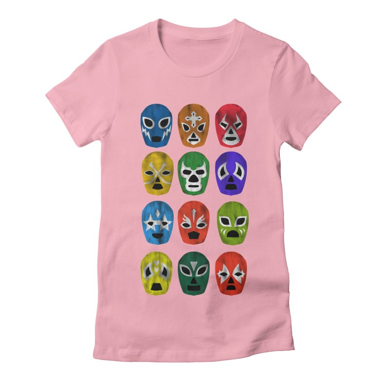LUCHADORES Women's Fitted T-Shirt by jrtoyman's Artist Shop