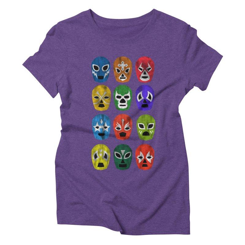 LUCHADORES Women's Triblend T-Shirt by jrtoyman's Artist Shop