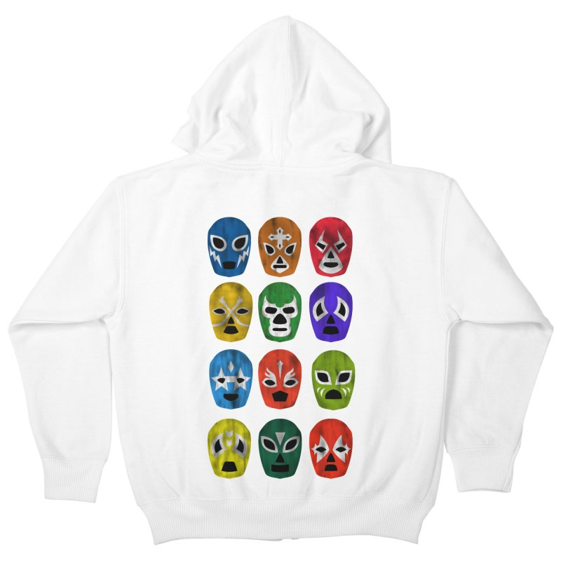 LUCHADORES Kids Zip-Up Hoody by jrtoyman's Artist Shop