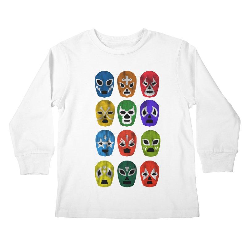 LUCHADORES Kids Longsleeve T-Shirt by jrtoyman's Artist Shop