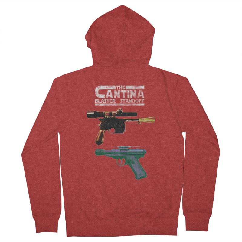 THE CANTINA BLASTER STANDOFF Men's Zip-Up Hoody by jrtoyman's Artist Shop