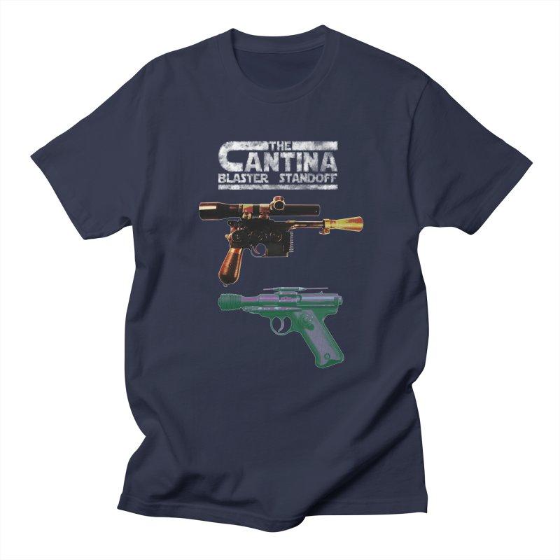 THE CANTINA BLASTER STANDOFF Men's T-Shirt by jrtoyman's Artist Shop