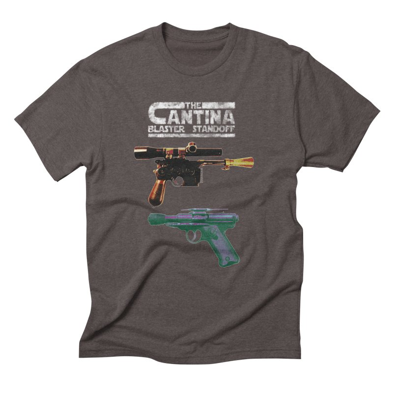 THE CANTINA BLASTER STANDOFF Men's Triblend T-shirt by jrtoyman's Artist Shop