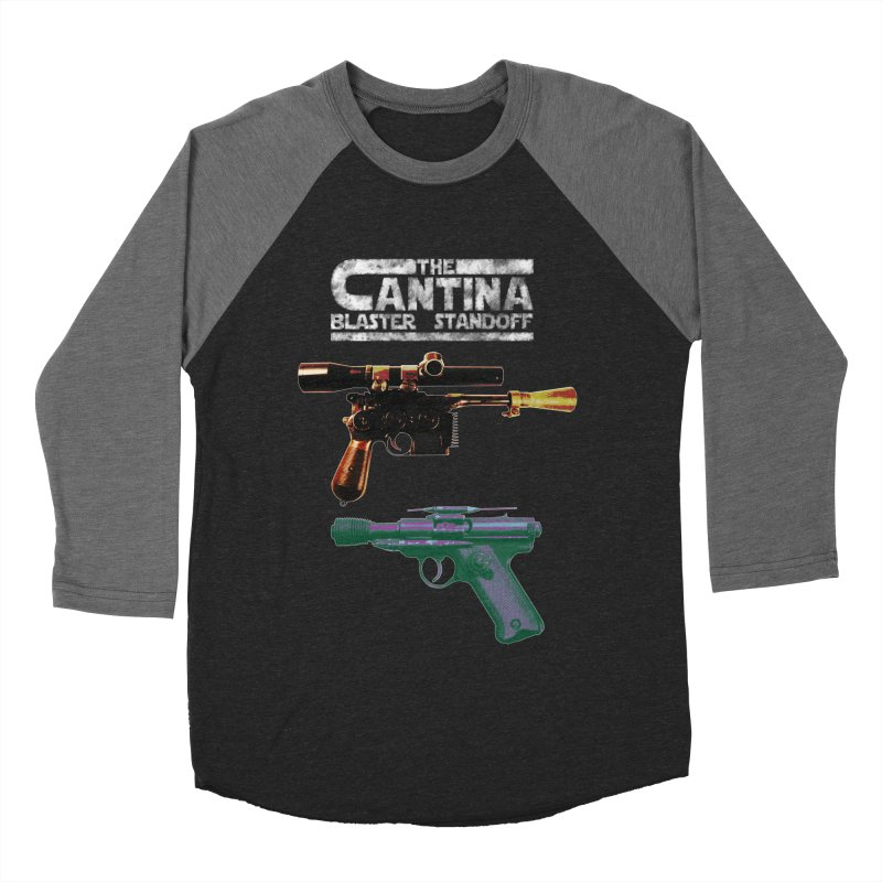 THE CANTINA BLASTER STANDOFF Men's Baseball Triblend T-Shirt by jrtoyman's Artist Shop