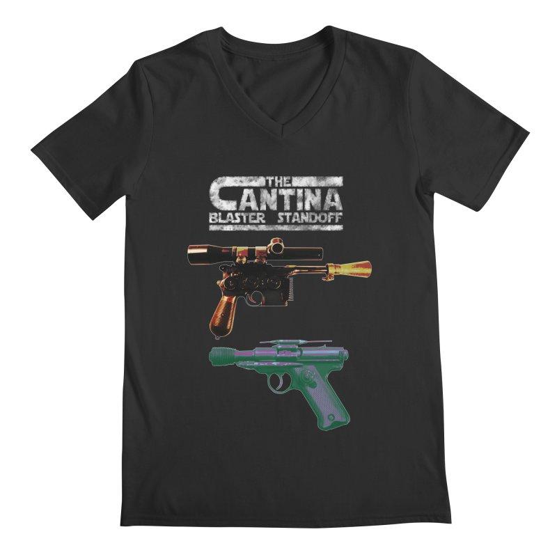 THE CANTINA BLASTER STANDOFF Men's V-Neck by jrtoyman's Artist Shop