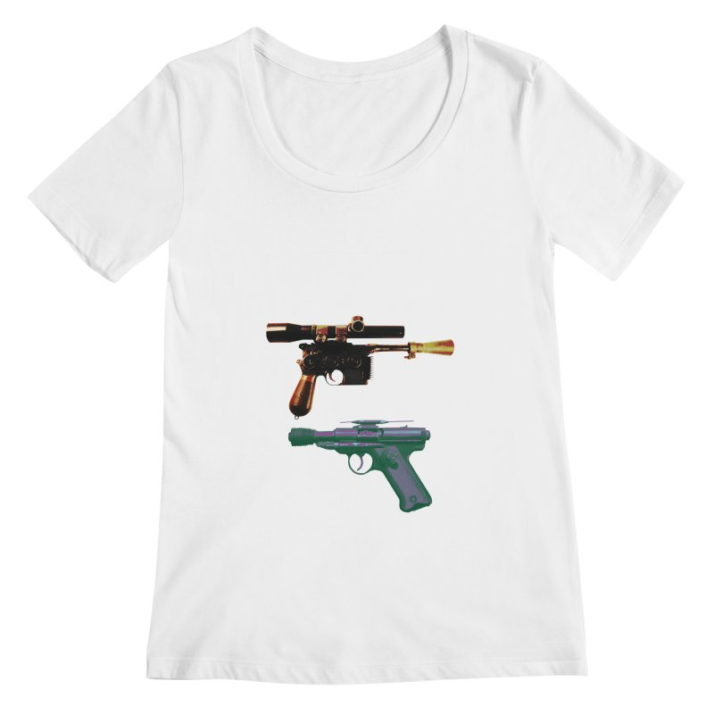 THE CANTINA BLASTER STANDOFF Women's Scoopneck by jrtoyman's Artist Shop