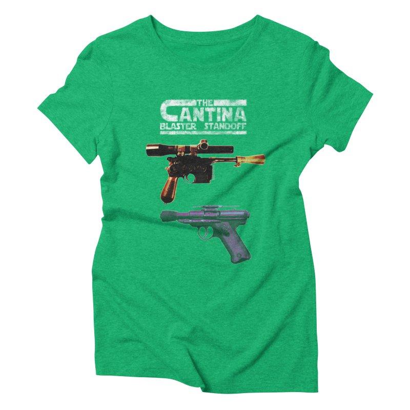 THE CANTINA BLASTER STANDOFF Women's Triblend T-Shirt by jrtoyman's Artist Shop
