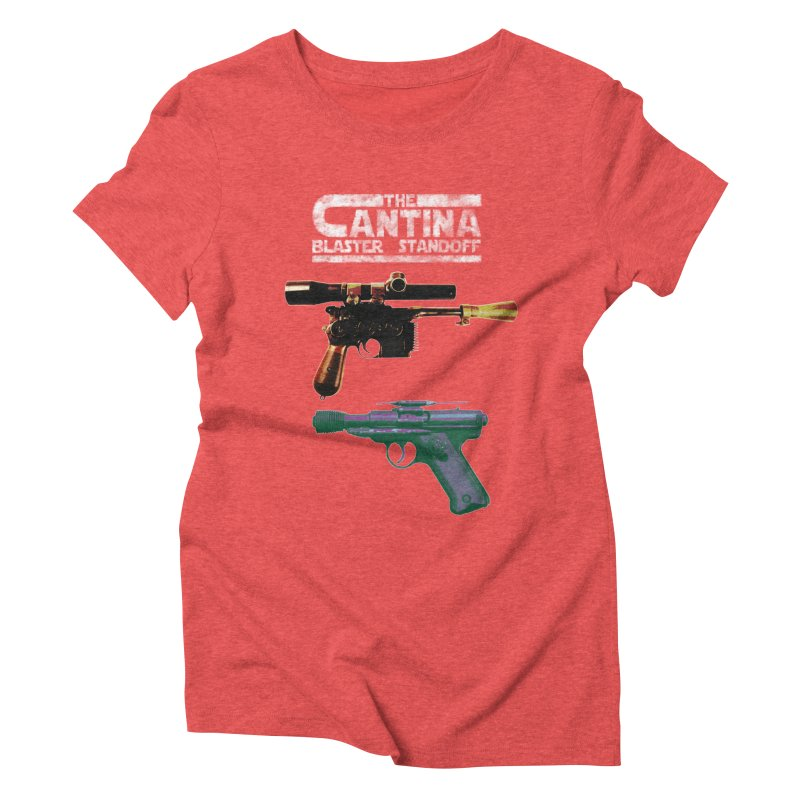 THE CANTINA BLASTER STANDOFF Women's Triblend T-shirt by jrtoyman's Artist Shop