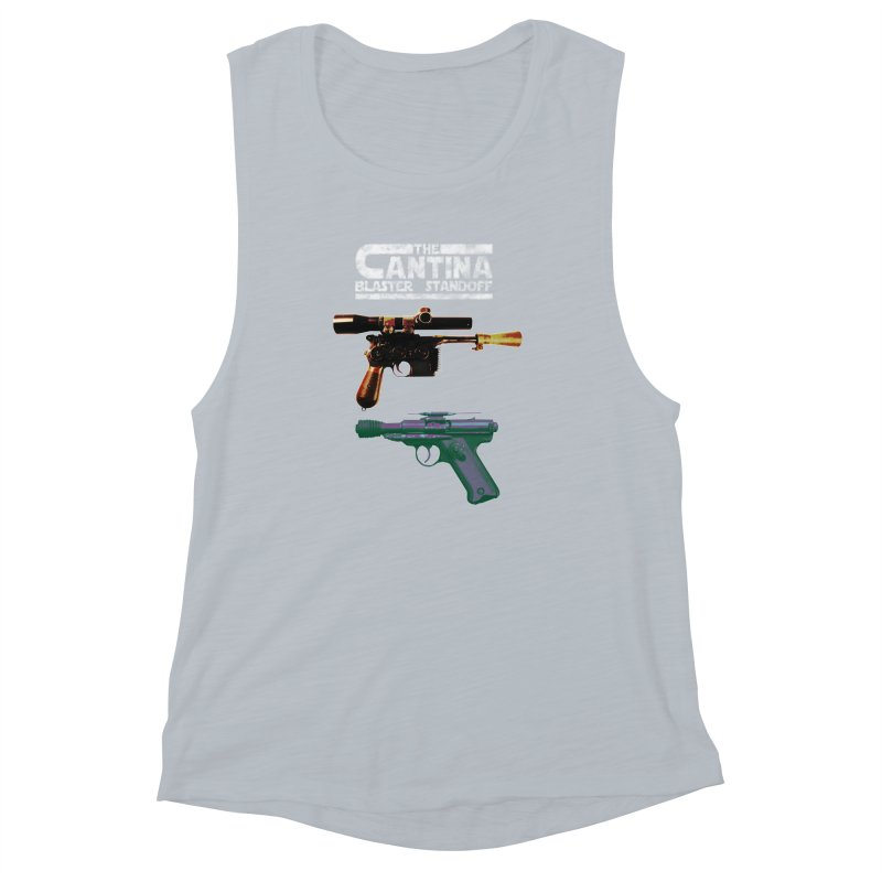 THE CANTINA BLASTER STANDOFF Women's Muscle Tank by jrtoyman's Artist Shop