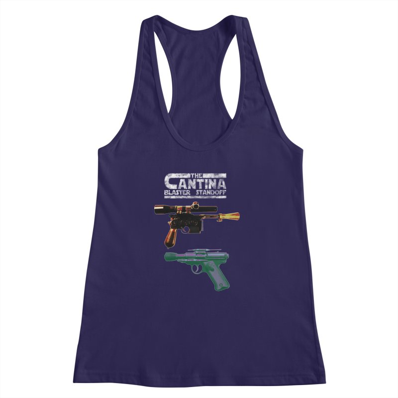 THE CANTINA BLASTER STANDOFF Women's Racerback Tank by jrtoyman's Artist Shop