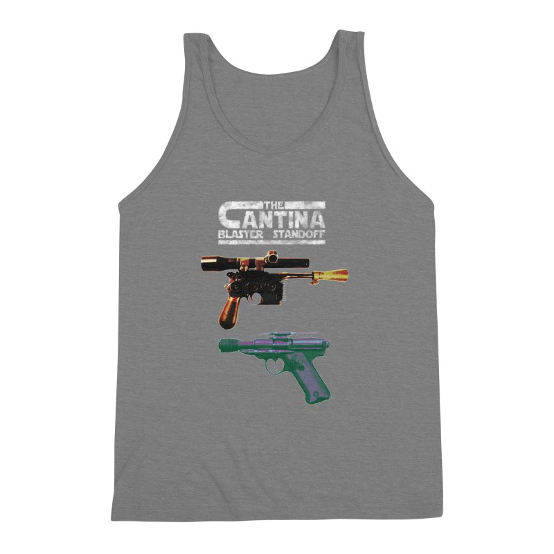 THE CANTINA BLASTER STANDOFF Men's Triblend Tank by jrtoyman's Artist Shop