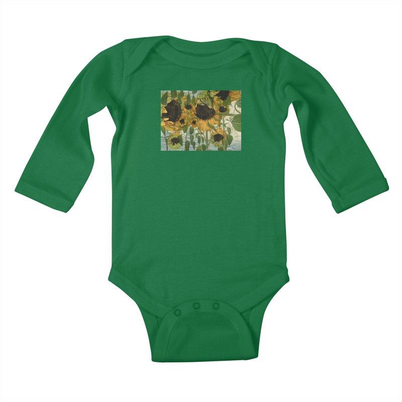 Sunflowerz Lil Ones Baby Longsleeve Bodysuit by Jesse Singh's Artist Shop