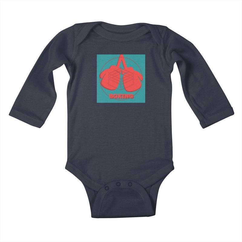 Boxing Lil Ones Baby Longsleeve Bodysuit by Jesse Singh's Artist Shop