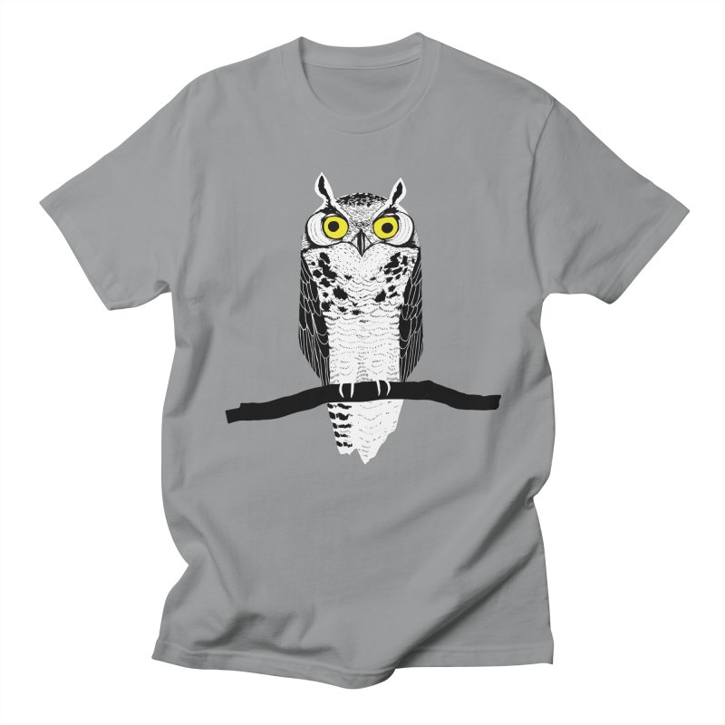 Great Owl Men's T-Shirt by jstumpenhorst