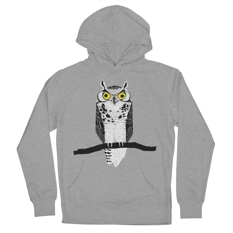 Great Owl Men's French Terry Pullover Hoody by jstumpenhorst
