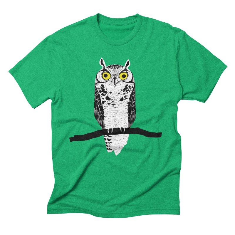 Great Owl Men's Triblend T-Shirt by jstumpenhorst