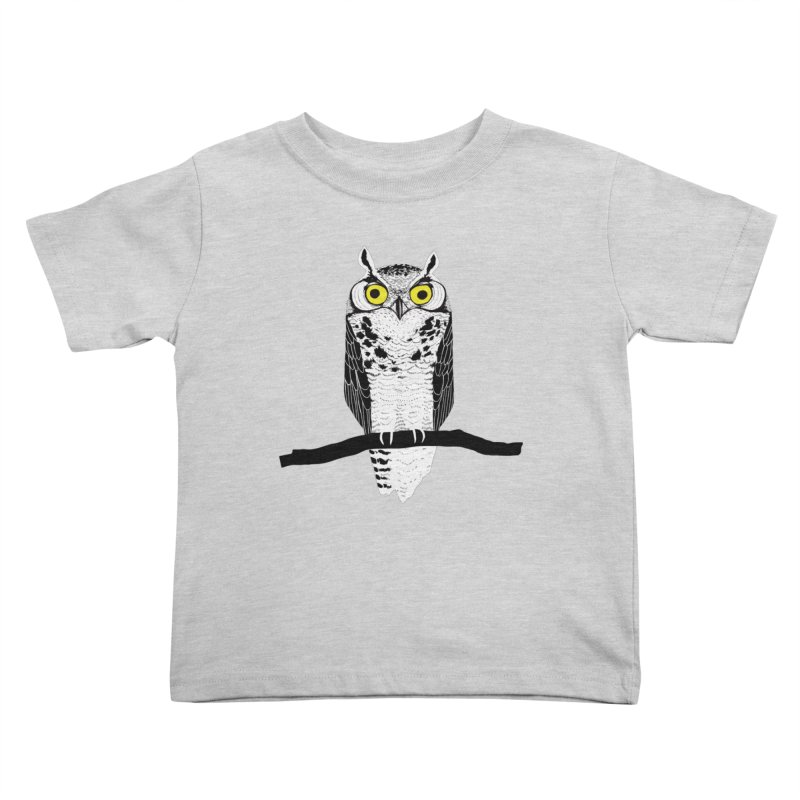 Great Owl Kids Toddler T-Shirt by jstumpenhorst