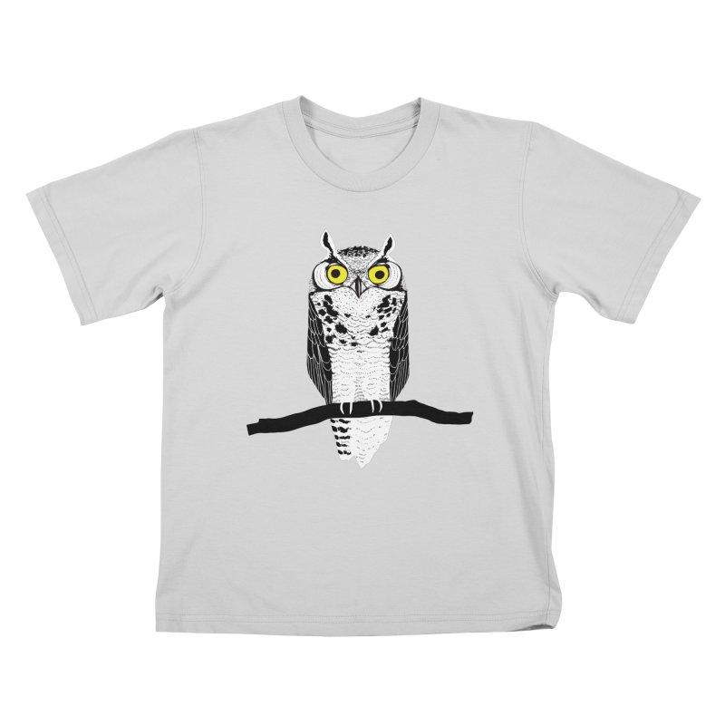 Great Owl Kids T-Shirt by jstumpenhorst