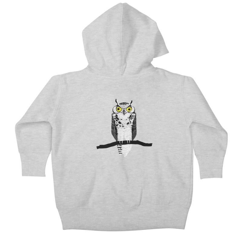 Great Owl Kids Baby Zip-Up Hoody by jstumpenhorst
