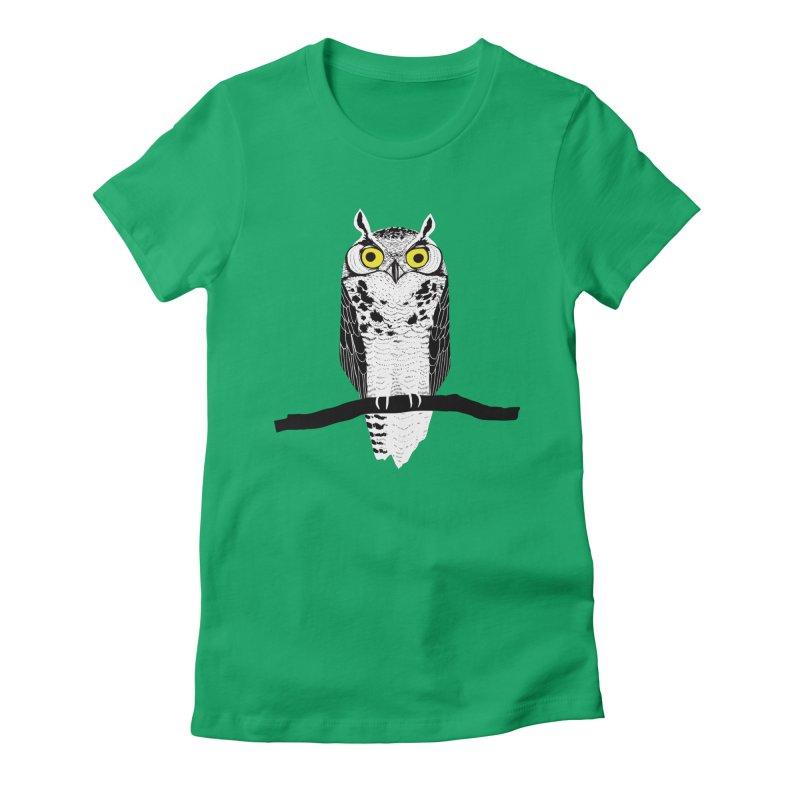 Great Owl Women's T-Shirt by jstumpenhorst