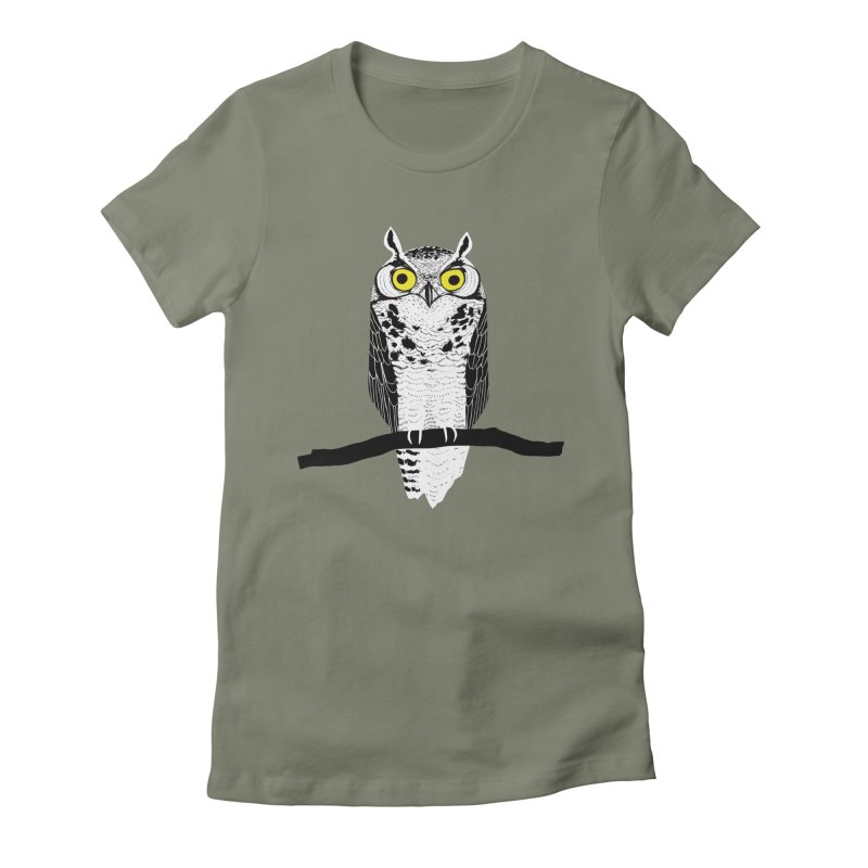 Great Owl Women's T-Shirt by jstumpenhorst