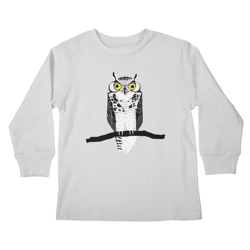 Great Owl Kids Longsleeve T-Shirt by jstumpenhorst