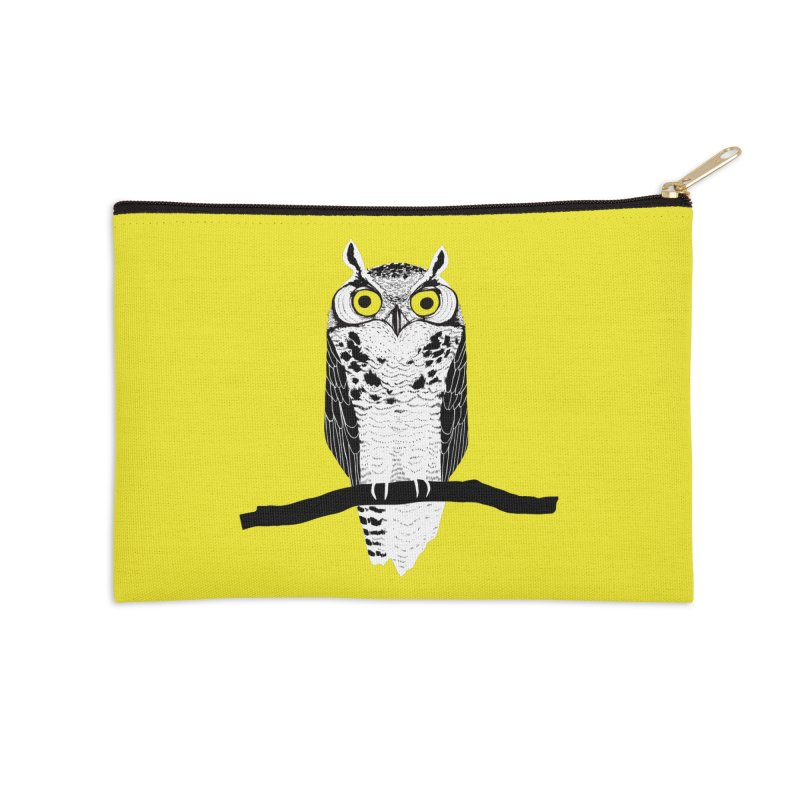 Great Owl Accessories Zip Pouch by jstumpenhorst