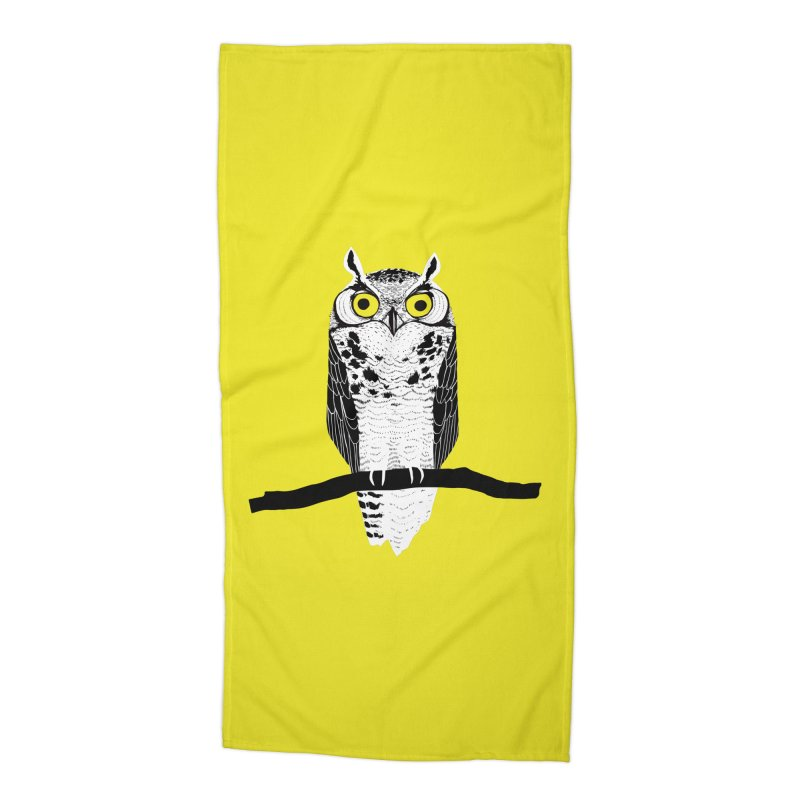 Great Owl Accessories Beach Towel by jstumpenhorst