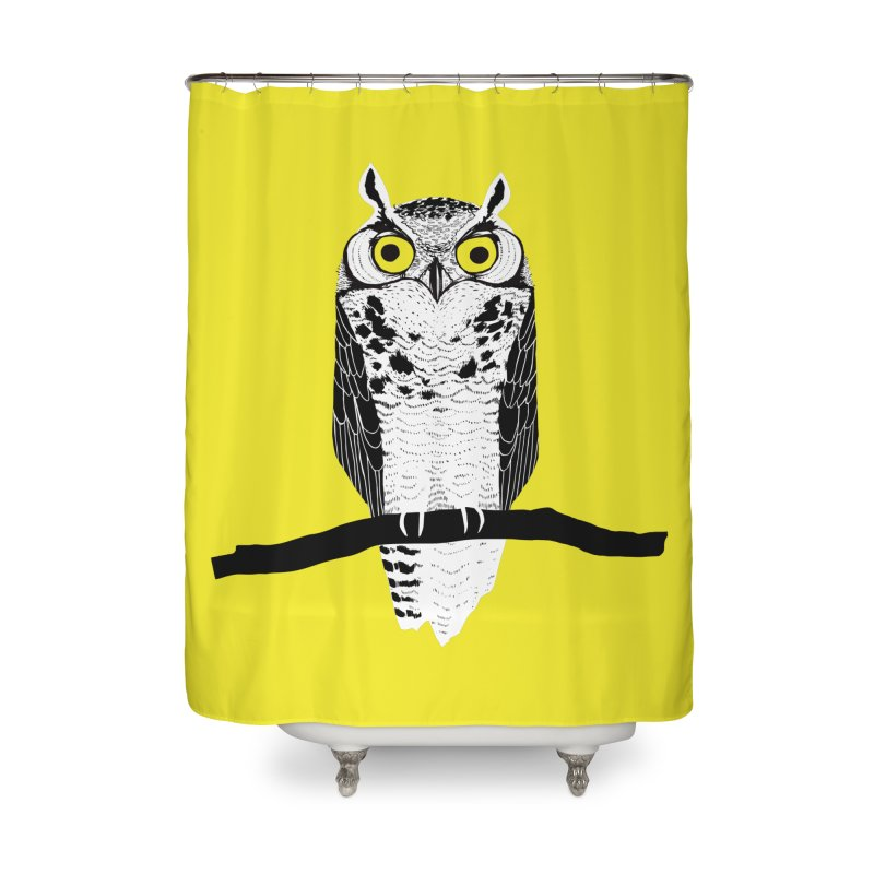 Great Owl Home Shower Curtain by jstumpenhorst