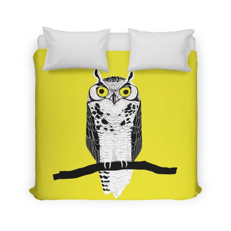 Great Owl Home Duvet by jstumpenhorst