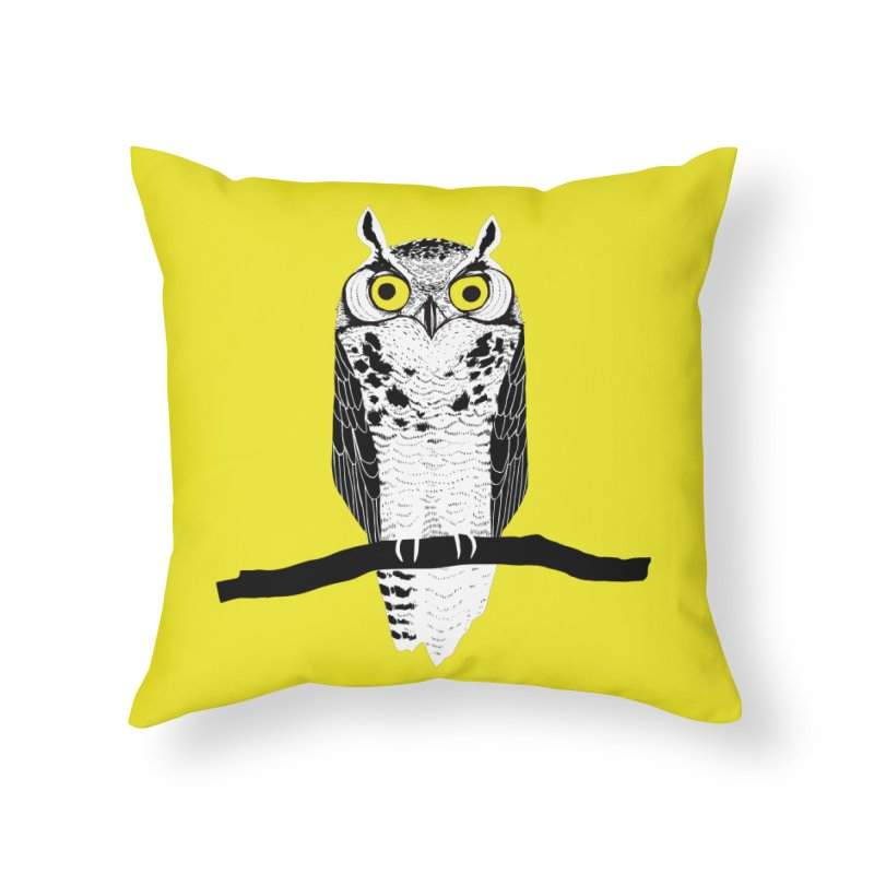 Great Owl Home Throw Pillow by jstumpenhorst