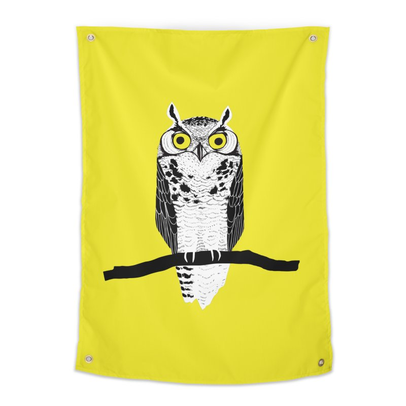 Great Owl Home Tapestry by jstumpenhorst