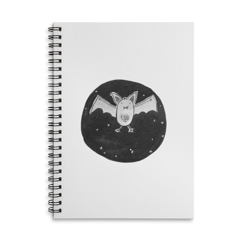 Bat Accessories Lined Spiral Notebook by Tianguis