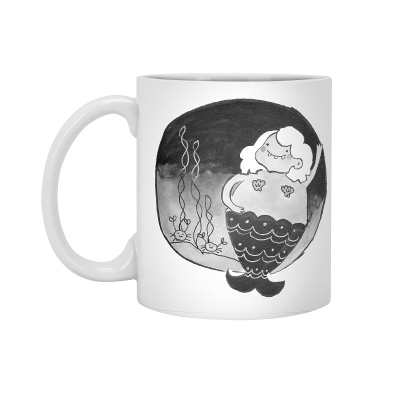 Fat Mermaid - Hair Color Matches Product Color Accessories Standard Mug by Tianguis