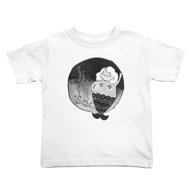 Fat Mermaid - Hair Color Matches Product Color Kids Toddler T-Shirt by Tianguis