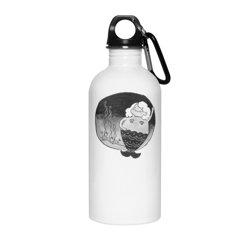 Fat Mermaid - Hair Color Matches Product Color Accessories Water Bottle by Tianguis