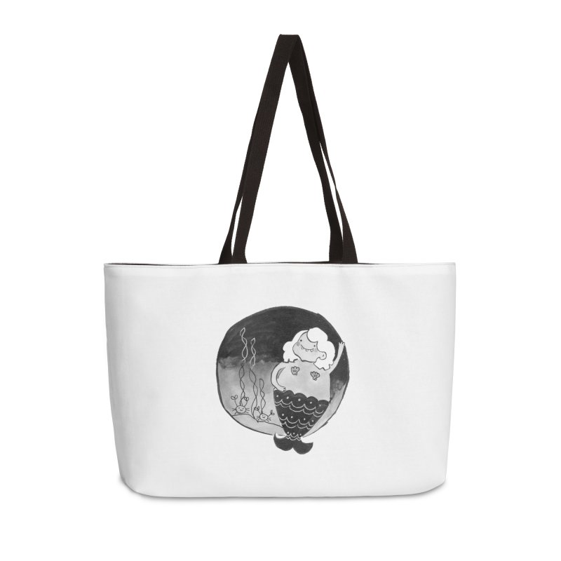 Fat Mermaid - Hair Color Matches Product Color Accessories Weekender Bag Bag by Tianguis