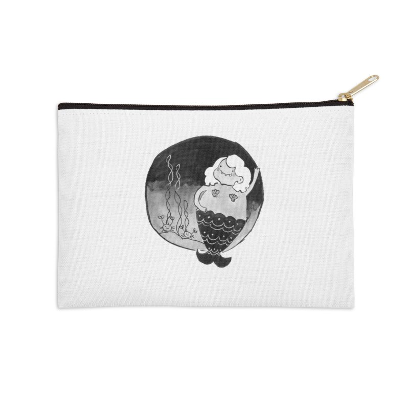Fat Mermaid - Hair Color Matches Product Color Accessories Zip Pouch by Tianguis