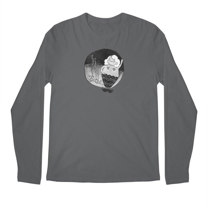 Fat Mermaid - White Hair Men's Longsleeve T-Shirt by Tianguis