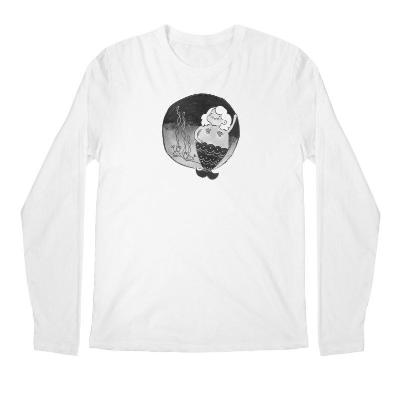 Fat Mermaid - White Hair Men's Regular Longsleeve T-Shirt by Tianguis