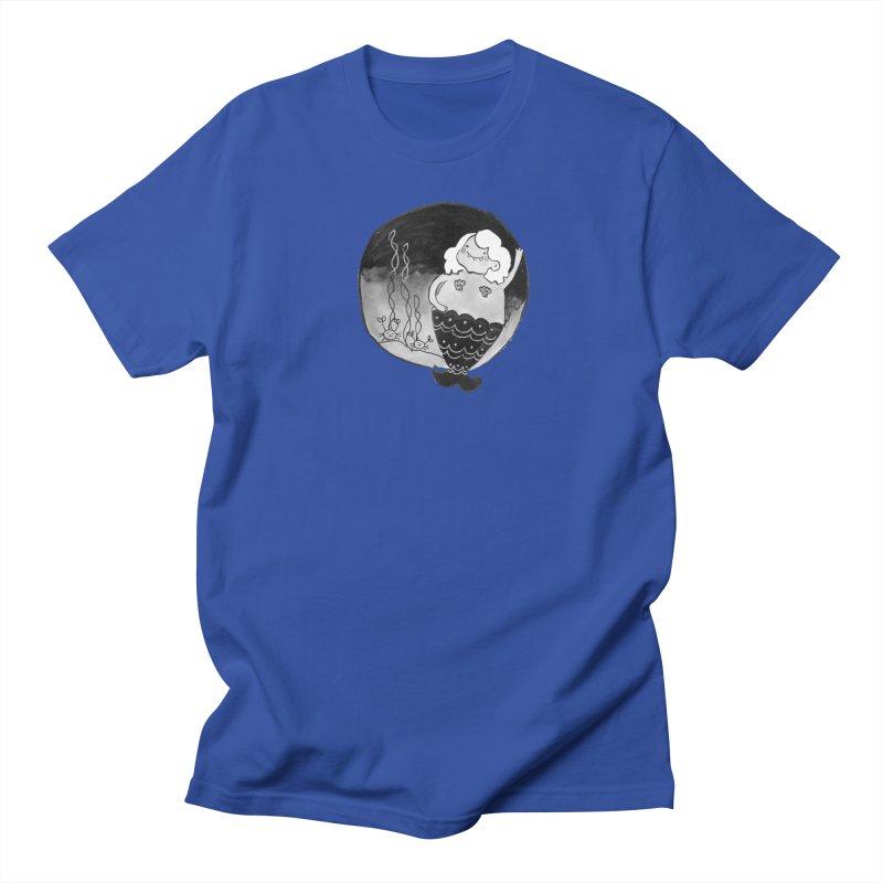 Fat Mermaid - White Hair Women's Regular Unisex T-Shirt by Tianguis