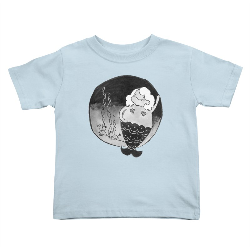 Fat Mermaid - White Hair Kids Toddler T-Shirt by Tianguis