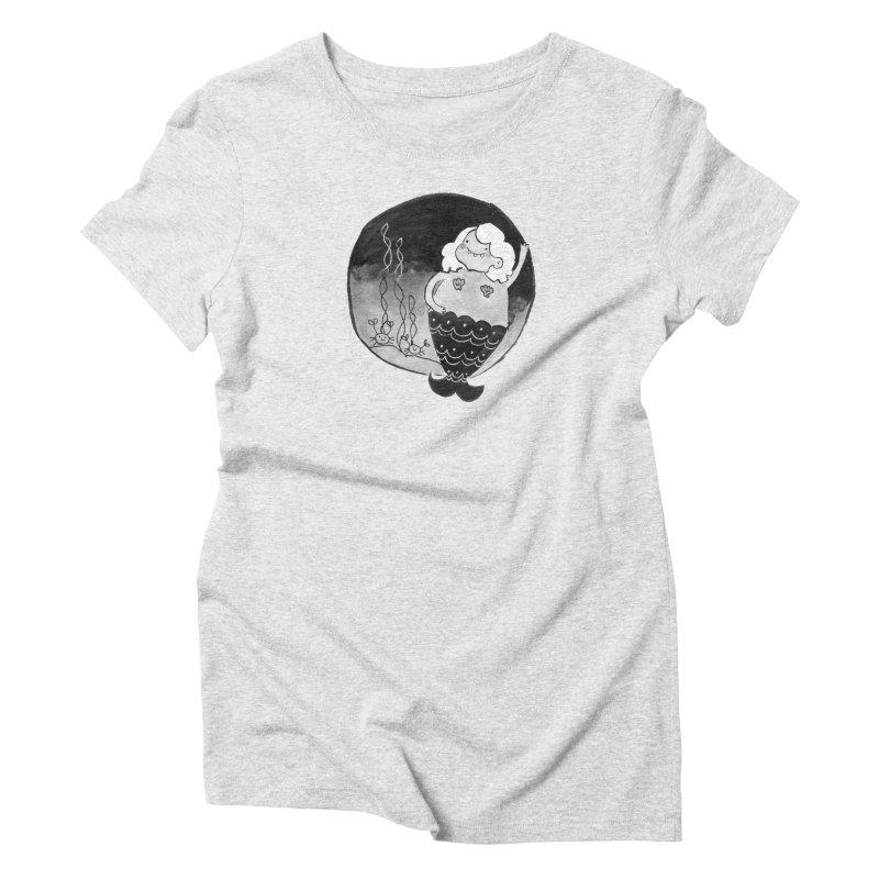 Fat Mermaid - White Hair Women's Triblend T-Shirt by Tianguis