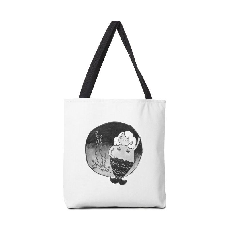 Fat Mermaid - White Hair Accessories Tote Bag Bag by Tianguis