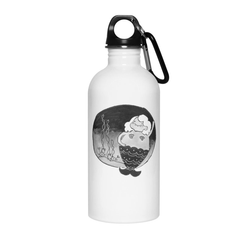 Fat Mermaid - White Hair Accessories Water Bottle by Tianguis