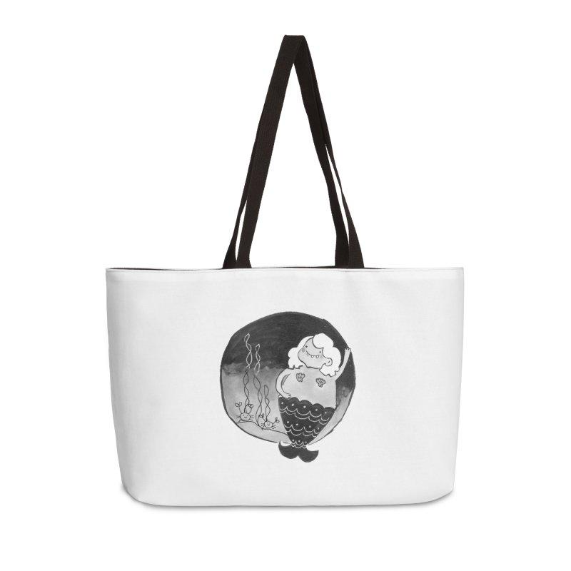 Fat Mermaid - White Hair Accessories Weekender Bag Bag by Tianguis