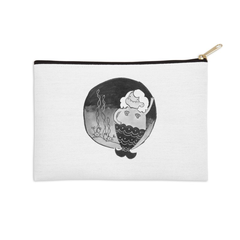 Fat Mermaid - White Hair Accessories Zip Pouch by Tianguis