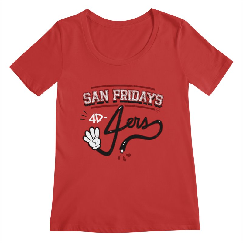 San Fridays Women's Regular Scoop Neck by jublin's Artist Shop