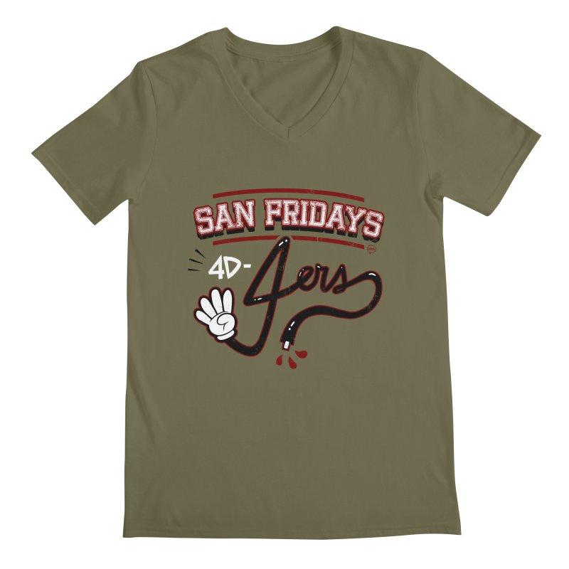 San Fridays Men's Regular V-Neck by jublin's Artist Shop